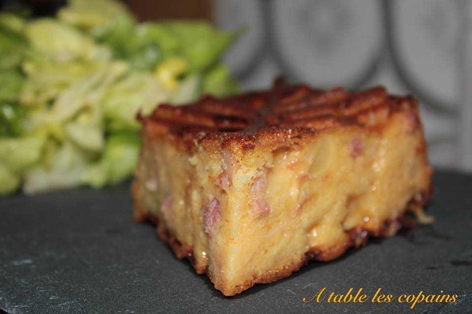 Moelleux au morbier et pancetta
