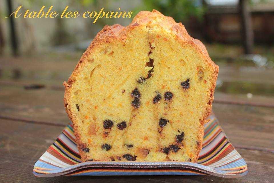 Cake curcuma / orange / chocolat