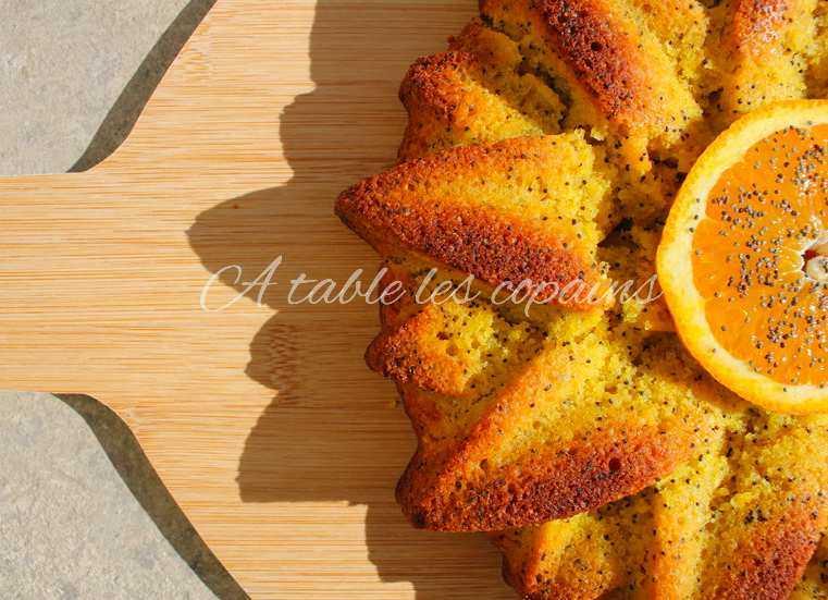 Gâteau à l'orange, polenta et huile d'olive  (sans gluten & sans plv)