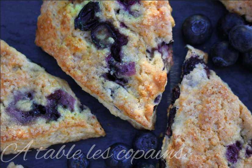scones aux myrtilles, au fromage blanc