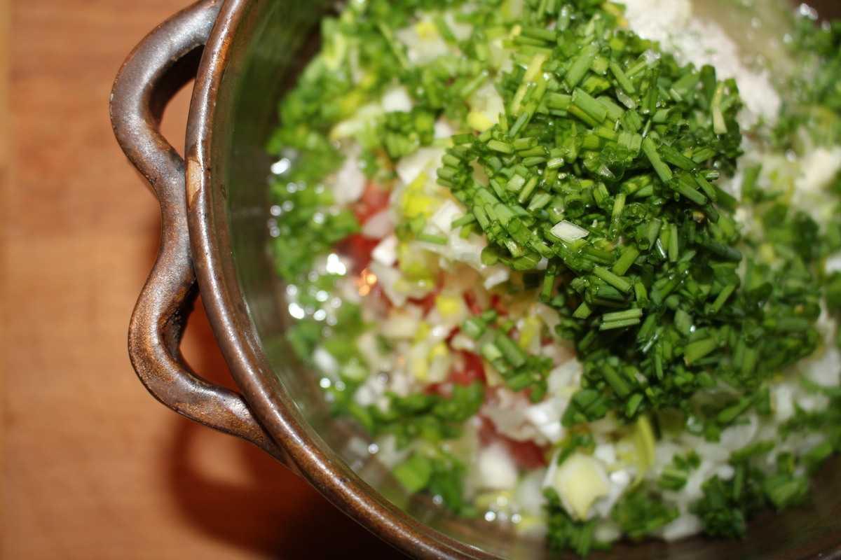 Sauce aux condiments pour poisson blanc