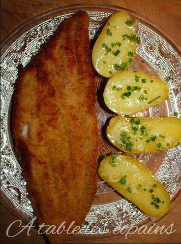 Filet de lieu pané et pommes de terre à l'anglaise