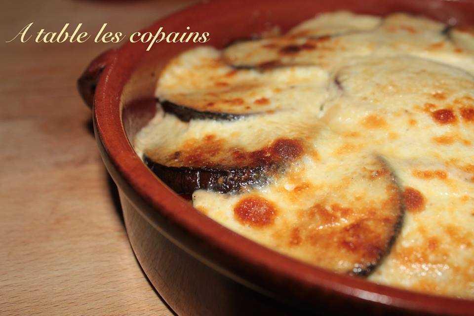 Tian d'aubergine, fromage blanc en faisselle, parmesan et