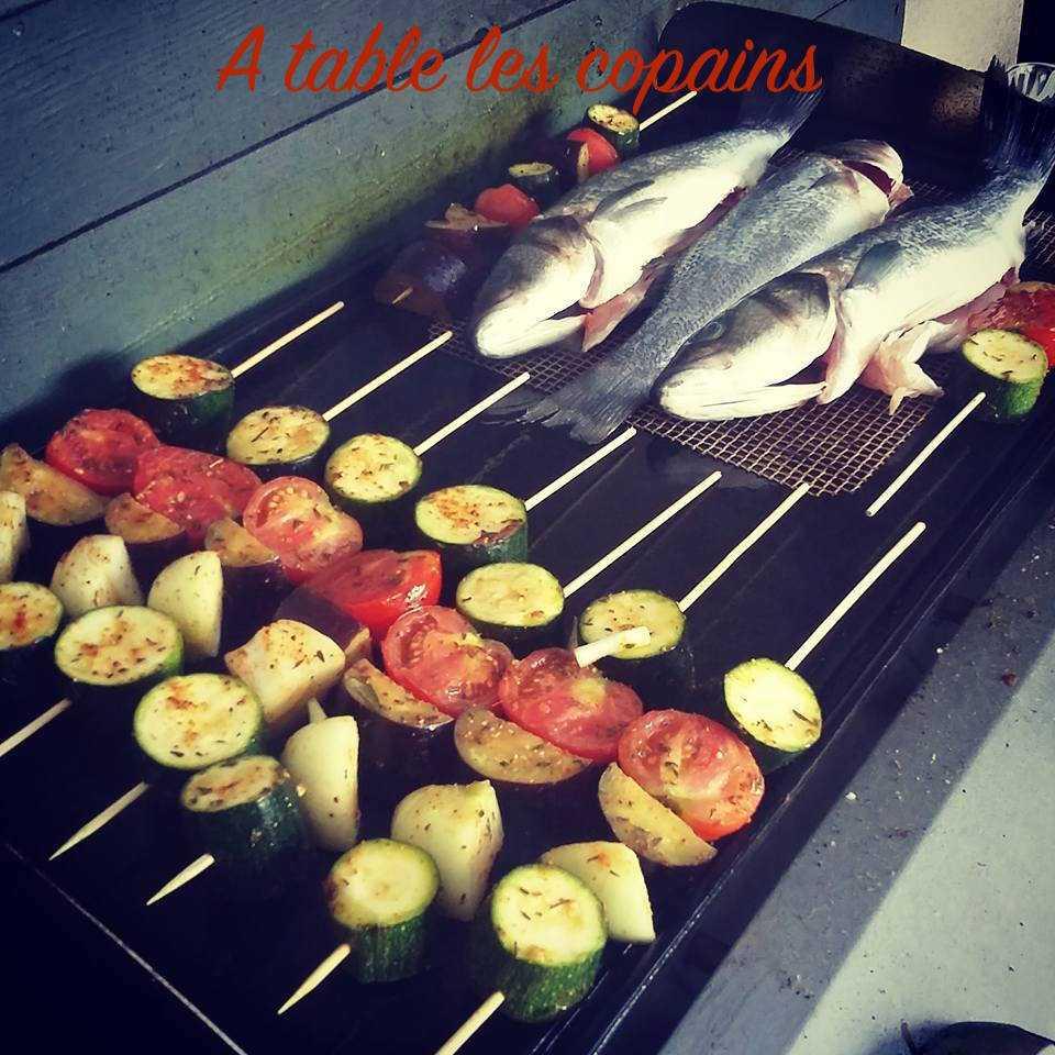 Brochettes de légumes du jardin marinées au piment d'espelette