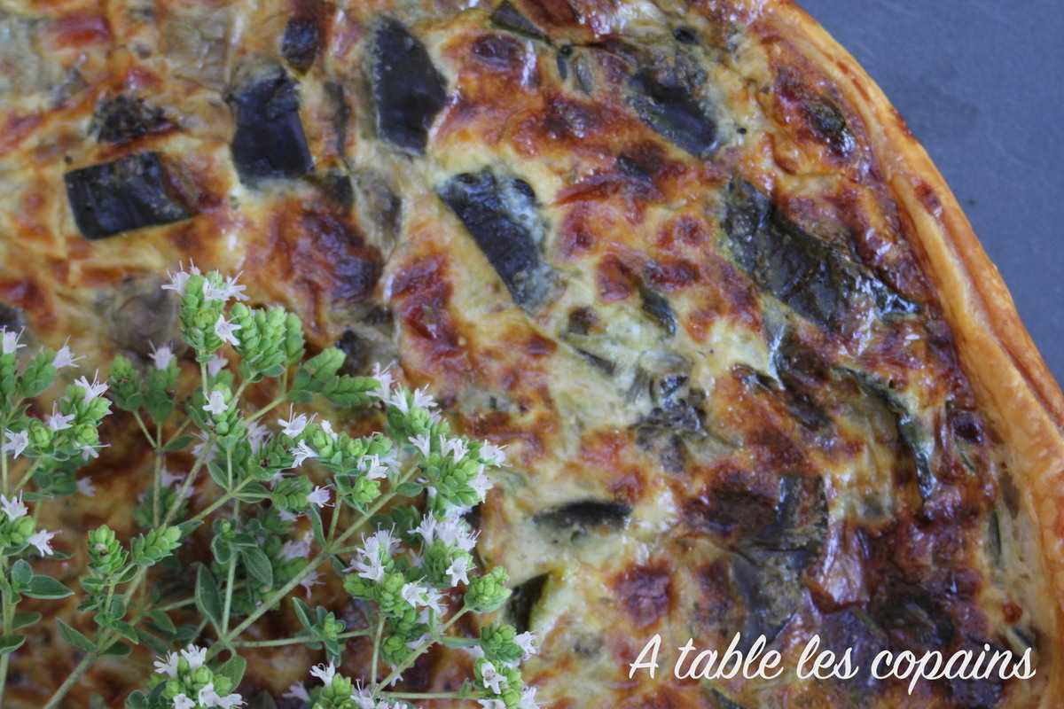 Tarte à la bohémienne à la mozzarella et à la marjolaine
