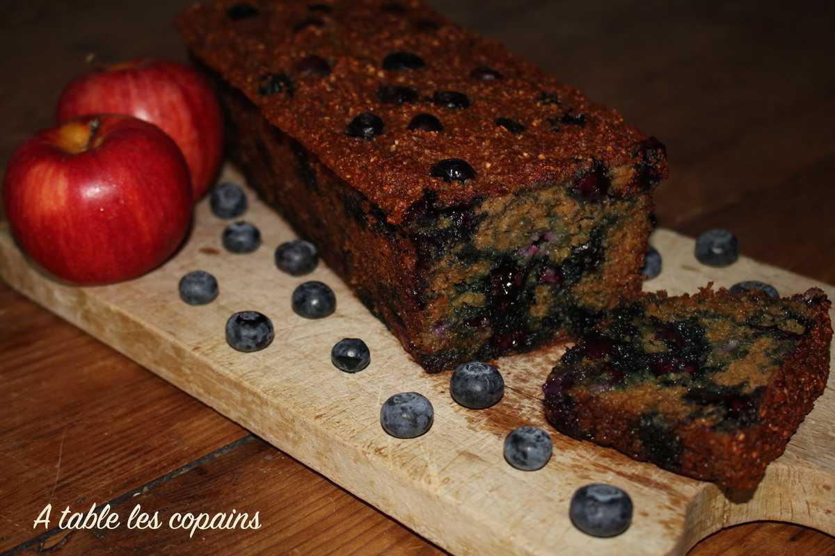 Cake healthy pomme / myrtille à l'avoine